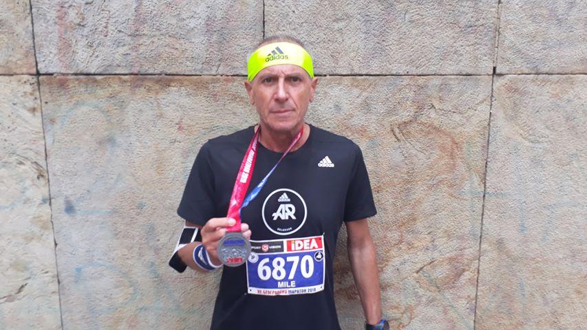 Mile istrčao svoj prvi polumaraton u 59. godini