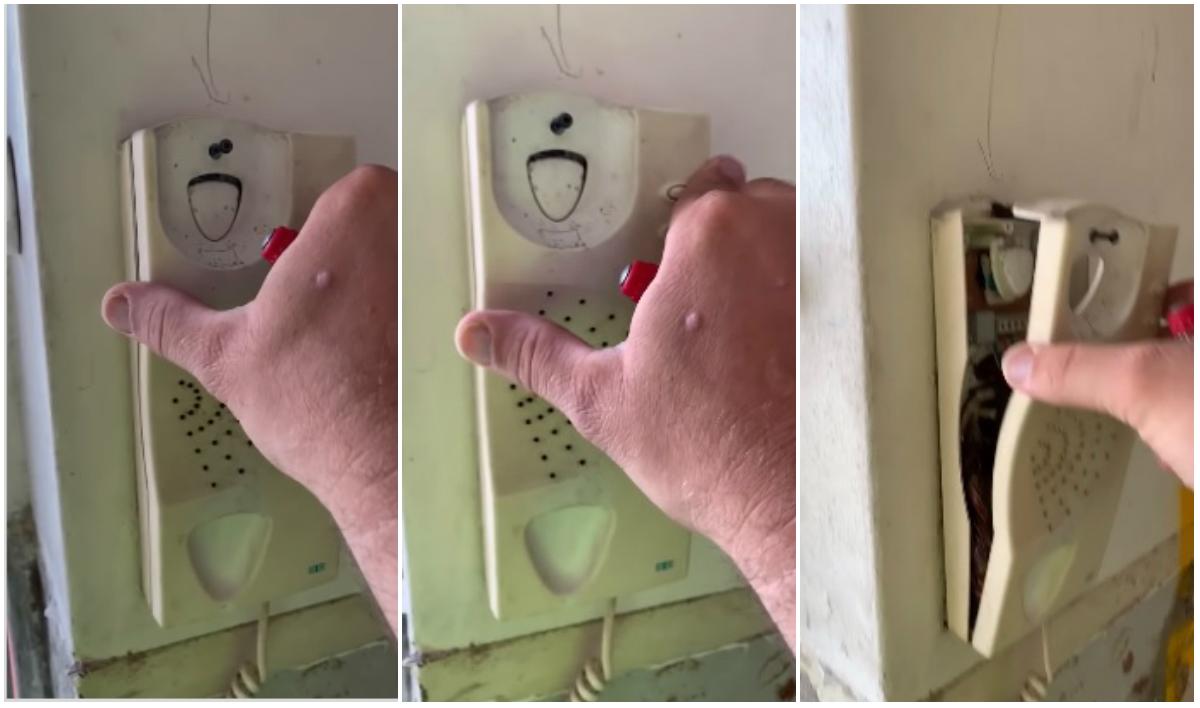 Probajte da se ne naježite: Mislio je da je telefon pokvaren, usledio je šok kad ga je otvorio (VIDEO)